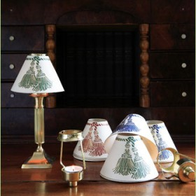 Printed Lamp Shades with tassels