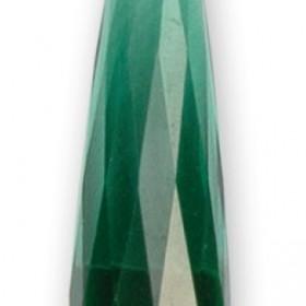 Anhänger lang geschliffen smaragd