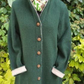 Wollstrickjacke Grün
