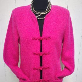 Wollstrickjacke pink